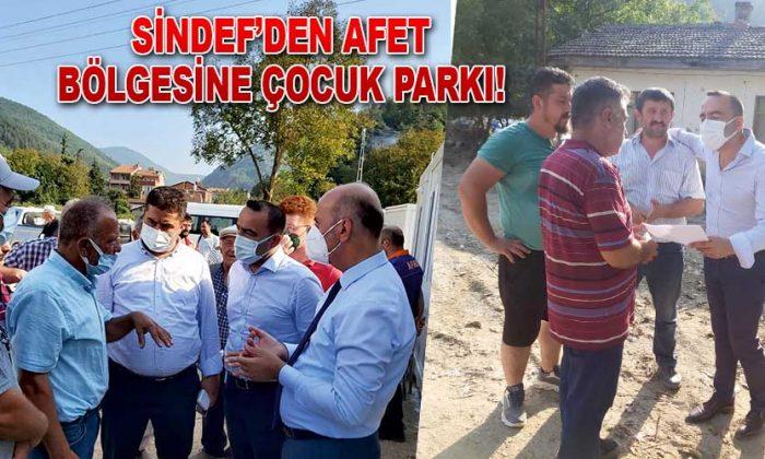 SİNDEF'DEN AFET BÖLGESİNE ÇOCUK PARKI!