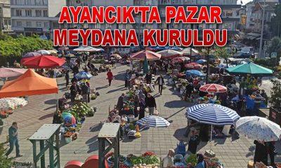 Ayancık'ta Pazar Meydana Kuruluyor