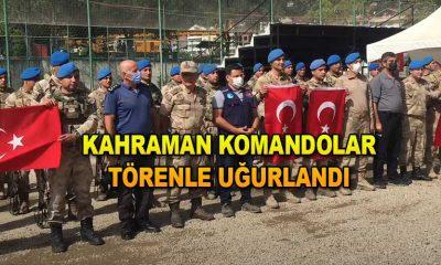 Kahraman Komandolar Törenle Uğurlandı