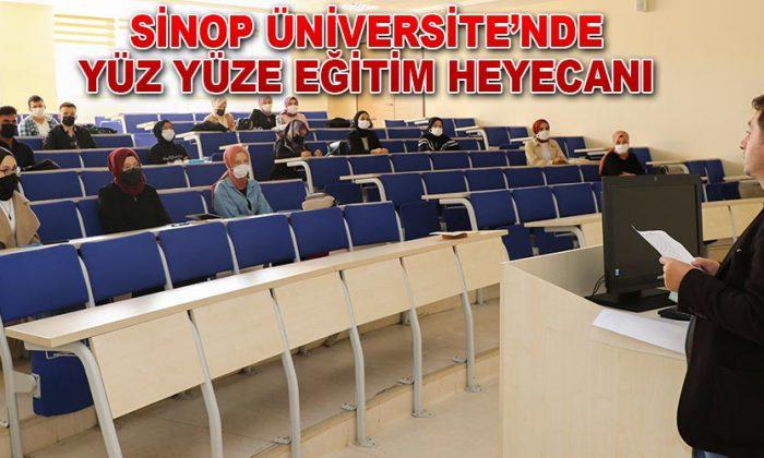 Sinop Üniversitesi'nde Yüz yüze Eğitim Heyecanı