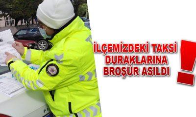 Ayancık'ta taksi duraklarına 12 Kural asıldı
