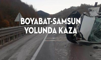 Boyabat Yolu'nda kaza