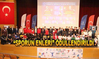 """Sinop'ta """"Sporun enleri"""" ödüllendirildi"""