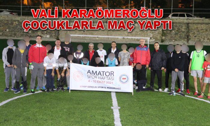 Sinop Valisi Çocuklarla Top oynadı